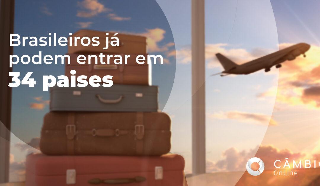 Sobe para 34 a lista de países que autorizam a entrada de brasileiros